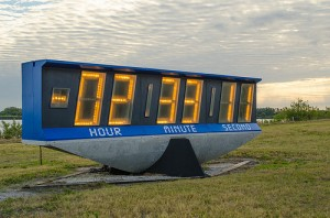 The large countdown clock for NASA liftoffs | credit Fifth World Art @ Flickr
