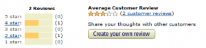 screen cap of 'create your own review' button