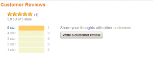 screen cap of where to write a review