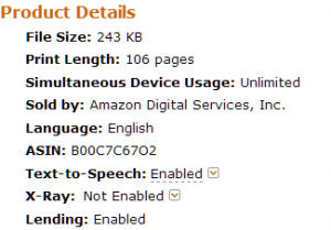 Amazon Product Details screen cap